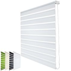 Double Roller Blind - Modern Clamping Duo Window Blind - White, No Drilling…