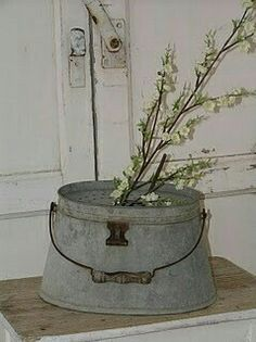 Galvanized Oval Bucket.