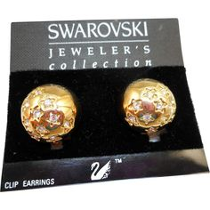 Swarovski Domed Star Earrings - MOC