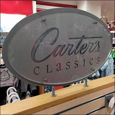 Carter's Engraved-Logo Slatwall Island Branding