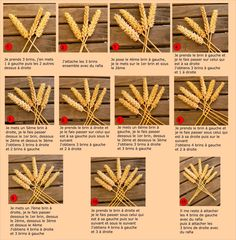 7 ears of wheat to braid . Straw Weaving, Basket Weaving, Corn Husk Wreath, Corn Dolly, Corn Husk Dolls, Lavender Crafts, Deco Champetre, Diy And Crafts, Arts And Crafts