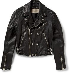 BURBERRY BRIT&BAD BOY BLACK LEATHER JACKET i don't even want to know what this costs