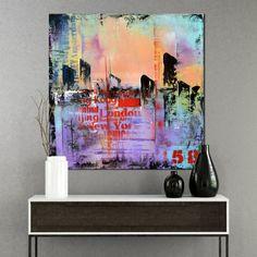 No 58 - Purple and Pink Abstract urban art, Modern Painting, Original Wall Art Modern Art Paintings, Original Paintings, Wall Art For Sale, Unique Wall Art, Hand Painting Art, Urban Art, Abstract Art, Pink Abstract, Street Art