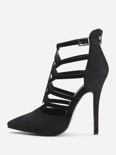 Black Cutout Zipper Back Stiletto Heels - Stage Vintage Bachlorette Ideas  Lole Boutique Killstar Revolve Party Baby Acronym Lalarue Bape Maternity  Liz ... b5aab3b6ad5b
