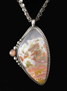 Ocean Jasper and Peach Moonstone Necklace by Simply_Adorning, via Flickr