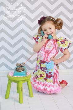 Image of Blue Sky Bouquet Apron Dress Dresses 2013, Spring Dresses, Apron Dress, News Design, Harajuku, Bouquet, Sky, Children, Sweet