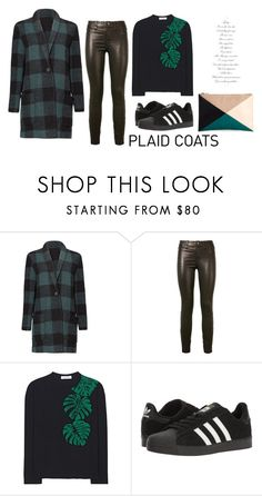 """Plaid coat"" by pamela-802 ❤ liked on Polyvore featuring BB Dakota, J Brand, Valentino, adidas, Sole Society and plaidcoats"