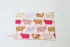Handmade Cotton Pouch Purse with Funky Floral by BettysBoutiques, £8.00