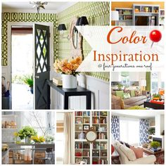 Easy ways to incorporate color, pattern and vibrance in your home www.fourgenerationsoneroof.com