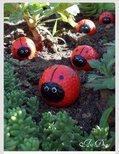 ❤️Mini Ladybug Golf Balls For Decor❤️ #Home #Garden #Trusper #Tip