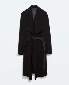 Image 6 of DRAPED COAT WITH RIBBONS from Zara