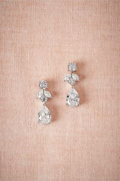 Petite Crystal Drops in Bride Bridal Jewelry at BHLDN                                                                                                                                                      More