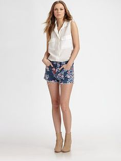 Loving the floral shorts look, but can't decide if I can pull off or not...