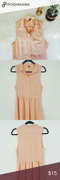 ☇H&M peach dress☇ Please let me know if you are interested or want to make an offer! H&M Dresses Midi