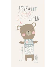 Paper &Cloth for Lilipinso - Tableau chambre d'enfant et bébé : Love often