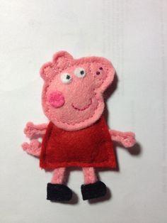 Broche de fieltro de Peppa Pig