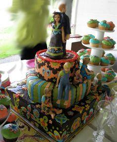 Bohemian wedding Cakes | ... wedding w/ Gumpaste Family of 7 — Other / Mixed Shaped Wedding Cakes