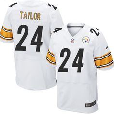 Pittsburgh Steelers Ike Taylor Men s Elite White Nike Jersey -  24 NFL Road Ike  Taylor 2c211266c