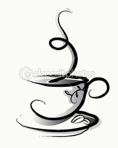 Чайно- кофейные трафареты.. Комментарии : LiveInternet - Российский Сервис Онлайн-Дневников