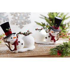 The Holiday Aisle 2 Piece Styrofoam Snowman Set Snowman Christmas Decorations, Snowman Crafts, Christmas Centerpieces, Christmas Snowman, Rustic Christmas, Christmas Projects, Simple Christmas, Holiday Crafts, Christmas Holidays