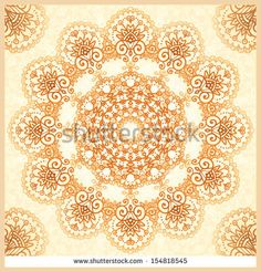 Ornate vintage vector seamless pattern in mehndi style