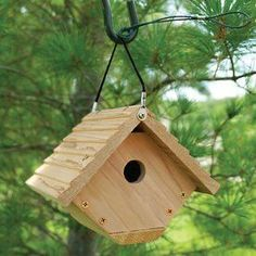 Woodlink 7.5-In W X 6.5-In H X 6.9-In D Unfinished Fir Bird House Nawr