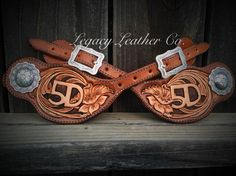 Customers spur straps by Legacy Leather Co. in Central Point, OR