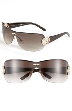 Gucci Rimless Shield Sunglasses available at Nordstrom Ray Ban Sunglasses Outlet, Ray Ban Outlet, Summer Sunglasses, Gucci Sunglasses, Cat Eye Sunglasses, Sunglasses Women, Gucci Eyewear, Wayfarer Sunglasses, Sunnies