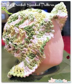 Crochet How To - Free Kids Sun Hat or Easter Bonnet Pattern