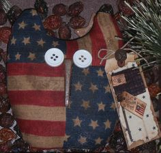 PriMiTive USA AMeRIcAnA BiRd OwL DoLL Ornie Bowl Filler Tuck ShelF SiTTeR
