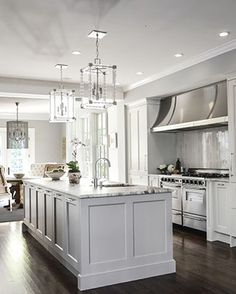 Mary Kathryn's Portfolio Love this kitchen. Would add a bar to the island.