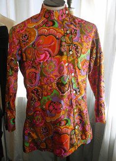 Vintage Off The Wall NY Mens Psychedelic Shirt Jacket 60s | eBay