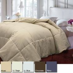@Overstock - Sleep in cozy comfort under this feather and down comforter. This comforter showcases a 233 thread count cotton cover. http://www.overstock.com/Bedding-Bath/Natural-Down-Blend-233-Thread-Count-Comforter/5479505/product.html?CID=214117 $49.99