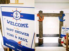 toni gonzaga nautical themed baby shower entrance