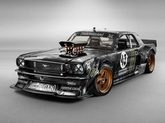 Highly modified Ford Mustang used in Ken Block's newest Gymkhana. Photo by Monster Energy on November 2014 at Ken Block's Gymkhana Ford Mustang. Mustang 65, Ford Mustang 1965, Ford Mustang Shelby Cobra, Ford Mustangs, Nuevo Ford Mustang, Ford V8, Restomod Mustang, Shelby Gt500, Mustang Drift
