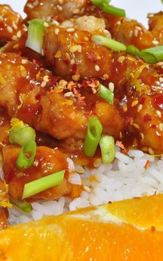 Chicken Breasts with Spicy Honey Orange Glaze - Savory, sightly sweet and with a kick!