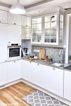 Dom w tamaryszkach 2 Kitchen Dinning, Sweet Home, Kitchen Cabinets, Interior, Instagram, Design, Home Decor, Kitchen Ideas, Dreams