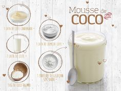 Adicione o leite condensado, o creme de leite, o coco e o leite no liquidificador. Bata bem. Em seguida, acrescente a gelatina, dissolvida conforme as instruções, e bata para misturar. Despeje o mousse em taças individuais e leve para gelar. #receitasNK