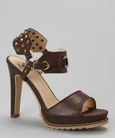 Another great find on #zulily! Dark Brown Studded Back Sandal by BÉTSY #zulilyfinds