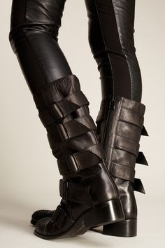 Thomas Wylde Gasp Buckle Trim Boot Moto Boots, Combat Boots, Bootie Boots, Shoe Boots, Happy Shoes, Corsets, Rock And Roll Fashion, Thomas Wylde, Post Apocalyptic Fashion