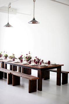 simplistic table settings