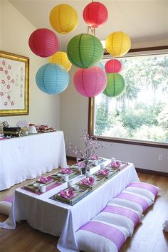 A Japanese Tea Party Birthday Party Ideas | Photo 9 of 13 | Catch My Party http://catchmyparty.com/photos/1335989