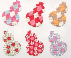 Japanese Stickers  Chiyogami Paper Hyotan by FromJapanWithLove, $6.00