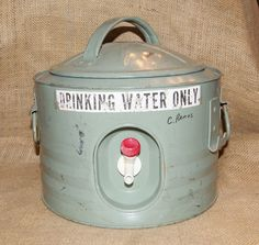 Vintage drinking water container