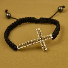 Fashion Cross Fill Crystal Rhinestone Bracelets Bangles