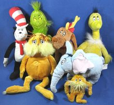 Kohls Cares For Kids Dr. Seuss Plush Stuffed Animals Lot of 6 Plus Mini Lorax #KohlsCares