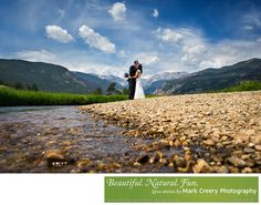 Colorado Wedding Photographer - Mark Creery Photography - Estes Park wedding photographer: This image was taken in Moraine Park in Rocky Mountain National Park. This is a perfect spot for couples that are willing to walk a short distance for some amazing views.  Here Lauren and Justin hiked with their trusty chacos and hiking books to the river's edge.  I got down almost at water level to take this one and waited for a natural moment to capture the beauty  of the area. Location: Moraine…