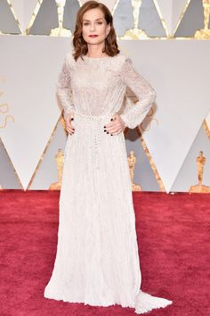 "Isabelle Huppert in Armani Privé. // Just amazing. Full of elegance and dignity, a perfect example of ""less is more"""