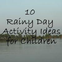 10 Rainy day activities