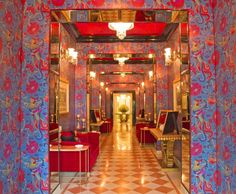 Originally built in 1729 by the Maharaja of Jaipur, the Rajmahal Palace was converted into a hotel 35 years ago and has hosted guests such as Jacqueline Kennedy. This year, Suján resort group reveals a restoration by designer Adil Ahmad, commissioned by The Royal Family of Jaipur. The new design features a plethora of coloured wallpapers and fabrics among royal motifs, classic architecture old world art items.